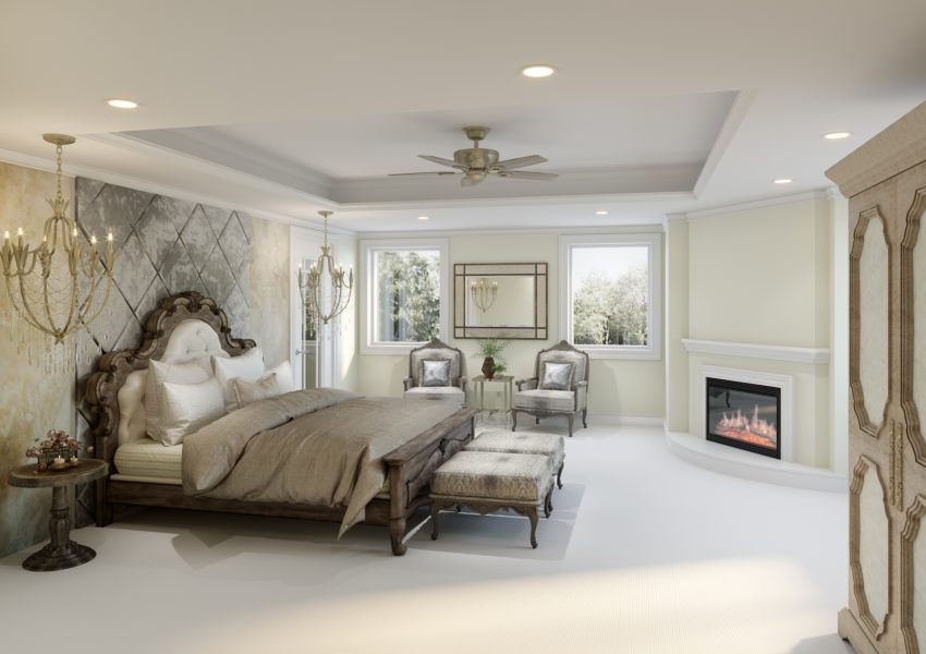 nj interior design bedroom 3D rendering